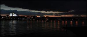 Bonn by night - Panorama by splunchy