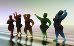 Zbrush Doodle Day 745 - Curvy Glass Figures by UnexpectedToy