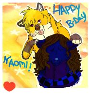 -_happy bday Naomi_- by orange-kitsunee