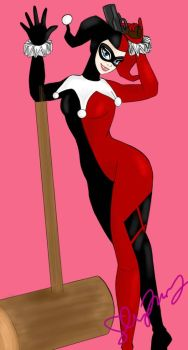 classic harley quinn by VermillionUmbra