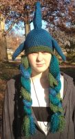 Sea and fin themed hat by Drgibbs