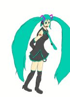 Disappearence of Miku Hatsune (Complete Body) by RunnerGuitar