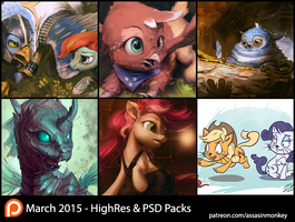 March Patron Packs - HighRes and PSD by AssasinMonkey