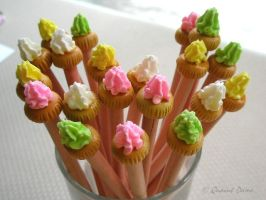 Sugar BIscuits pencils by quaint-dame
