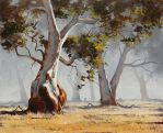 Eucalyptus tree Paintings by artsaus