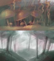 Forest speedpaints by Shadowwwolf