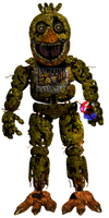 Springtrap Chica Full body by Dangerdude991