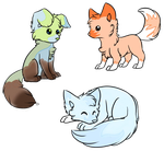 Elemental Fox Adopts [10 Points Each] by Sydkitty13