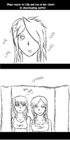 .::Maya reacts to Lilly and Lea in her Closet::. by XMayaChasesCookiesX