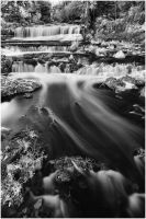 Willow River Falls IR B+W by BrianWolfe