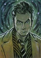 Doctor Who 10th Dr Sketch Card by timshinn73