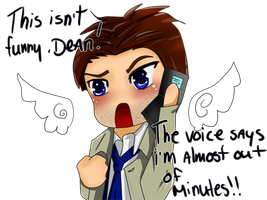 Castiel is out of minutes by XiaoShuai