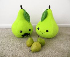 A Pair o' Pear Plushies by Meowchee