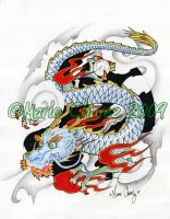 dragon tattoo design by MarioChavez