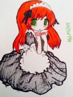 Chibi maid Kayurita by SoulDrawer12