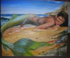 beached mermaid wip 6 by dashinvaine