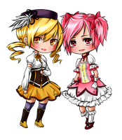Madoka and Mami by sky-illuminated