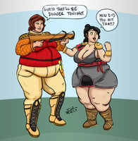 Commission: Miriel And Yrdina by Idle-Minded