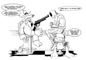 Deadpool vs. Sam and Max by original-J-