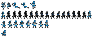 Some Extra Lucario Sprites by ralord