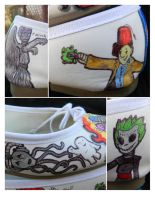 Doctor Who Custom Shoes - Who Shoes - Details by DaleksinWonderland
