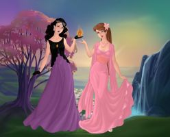 Esmeralda and Hope Goddesses by Colleen15