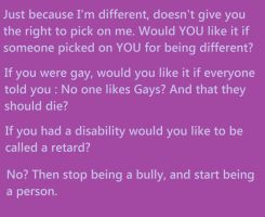 Message to Bullies by Emily-Young