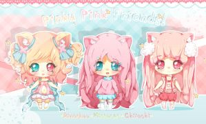 Pinku pink Friends! by RinaShuu