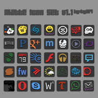 Matte Icon Set v1.1 by kgill77
