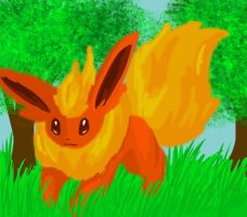 Flareon speedpaint by UnoChara