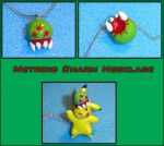 Metroid Charm Necklace by YellerCrakka