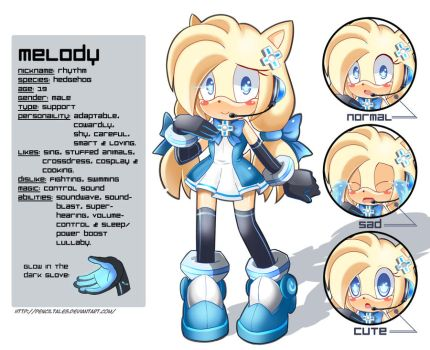 Melody New Reference Sheet by PencilTales