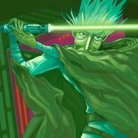 ::: green lightsaber ::: by Karelias