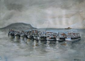 Bombay in Watercolours - At the Gateway of India by soelusive