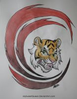 Tattoo Design: Angry Tiger by MySweetQueen