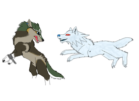 Wolf Link vs. White Wolfos by nitalla