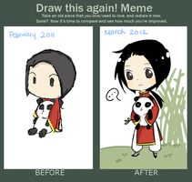 Draw This Again Meme : China Chibi by Hourglass34