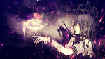 Anime Girl - Girl and the white Pidgeon Wallpaper by GinXen