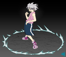 Coloreo de Killua Zaoldyeck by kuroro97