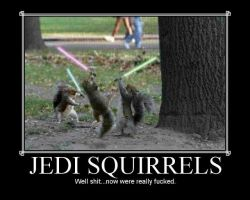 Jedi Squirrels by jay4gamers1