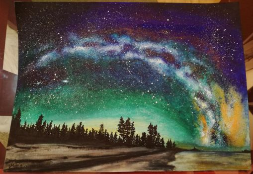 Watercolor Painting: Night Sky by Layllaa
