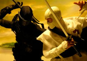 Snake Eyes vs Storm Shadow by Riebeck