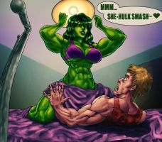 She-Hulk commission by DraserkerX