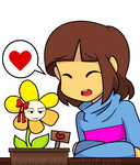 Undertale: Frisk and Flowey by Luvncie