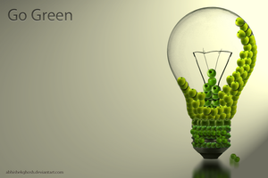 Go Green bulb by AbhishekGhosh