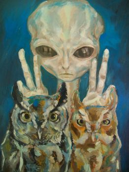Extraterrestrial and Owls by Waspdrake