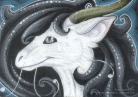 The Silver Wind - ACEO Trade by PoonieFox