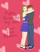 Love from Robbie (Valentines request) by kitkatnis