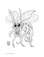 Cholokh (the Flying Octopoid Creature) by JeffDee