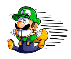 CP .:Super Mario-Kun stylized Luigi:. by Miapon